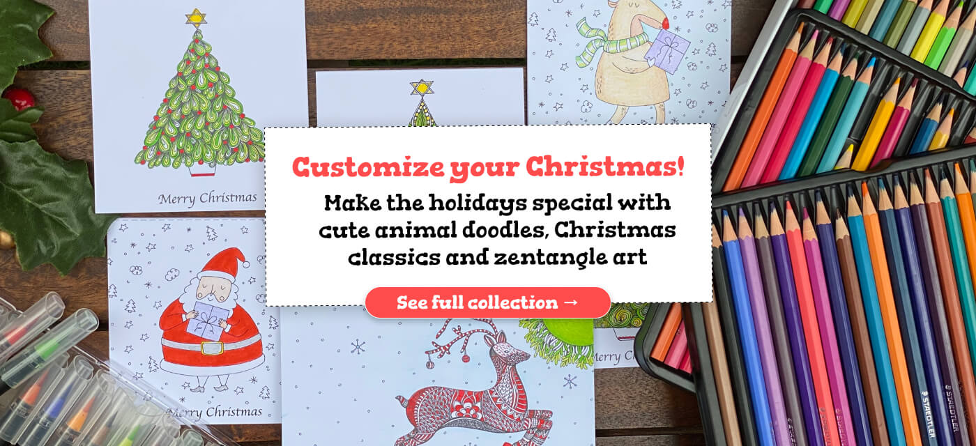 Colour in Christmas this year with DIY Greeting Cards & Tree Ornaments Cover Image