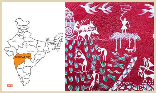 Warli painting on village walls