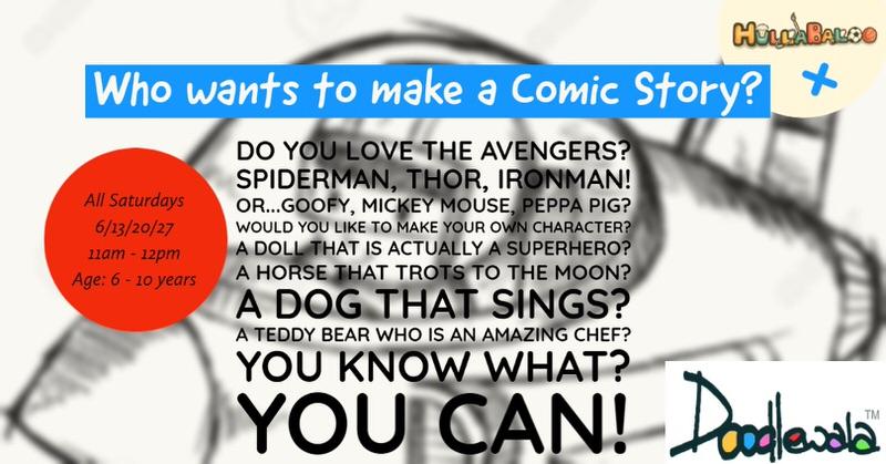 Hullabaloo+ Who wants to make a Comic Story Cover Image