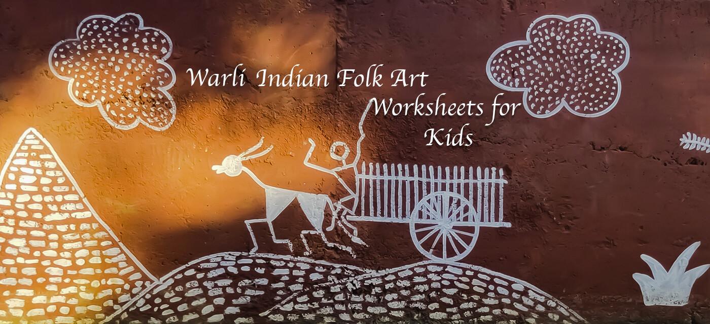 Warli Indian Folk Art Activity Worksheets for Kids Cover Image