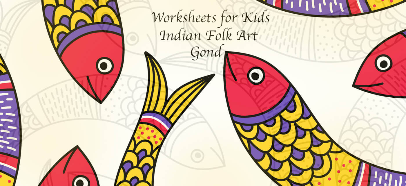 Gond Indian Folk Art Activity Worksheets for Kids Cover Image