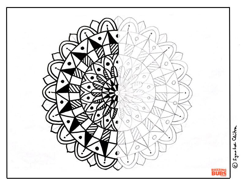 mandala practice worksheet