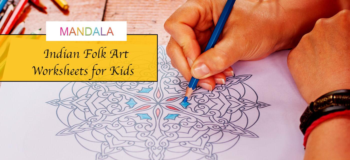 Mandala Art Activity Worksheets for Kids Cover Image