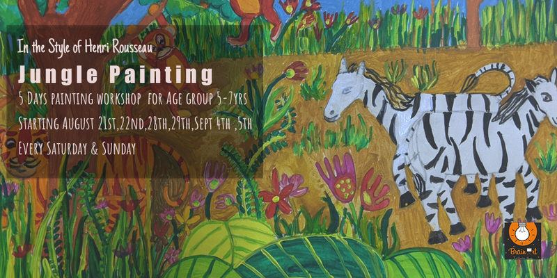 Jungle Painting – In the Style of Henri Rousseau Cover Image