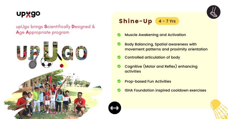 upUgo Shine Up Fitness Program for Kids 4 – 7 yrs Cover Image