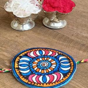 Amara' Floral Madhubani Paint Unique Rakhi's