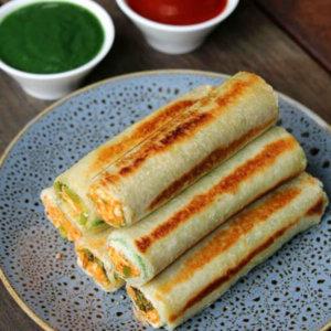Paneer Bread Roll monsoon snack