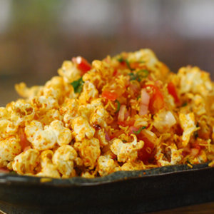 Popcorn bhel monsoon snack recipe
