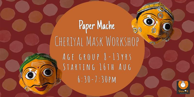 Cheriyal Mask Making: Paper Mache Workshop for Kids Cover Image