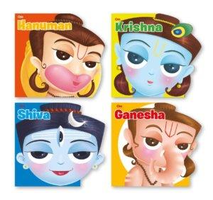 Gods- Krishna, Shiva, Hanuman, Ganesha